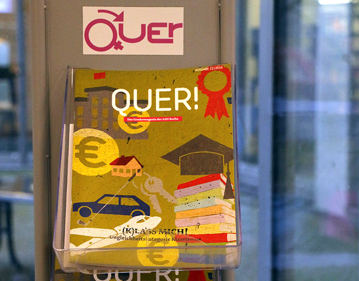 """Frontalansicht der Zeitschrift """"Quer"""""""