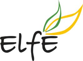 Auf dem Bild ist das Logo des Projekts, der bunte Schriftzug ElfE, zu sehen.