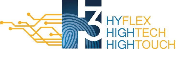 Logo H³ Hyflex, Hightech, Hightouch