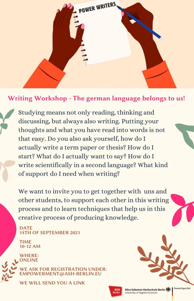 flyer power writing workshop