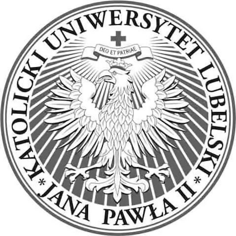 Das Logo der Katolicki Uniwersytet Lubelski Jana Pawla.