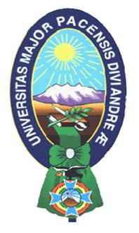 Das Logo der Universidad Mayor de San Andres La Paz.