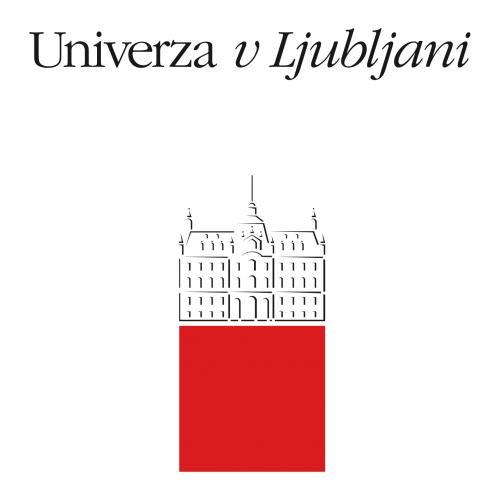 Das Logo der Univerza v Ljubljani.