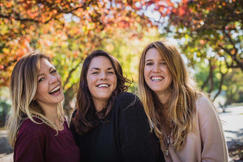 Gruppenbild von Nadja Boegli, Nicole Windhell und Naomi Ryland