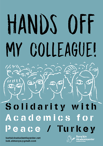 Hands off my colleague! Plakat