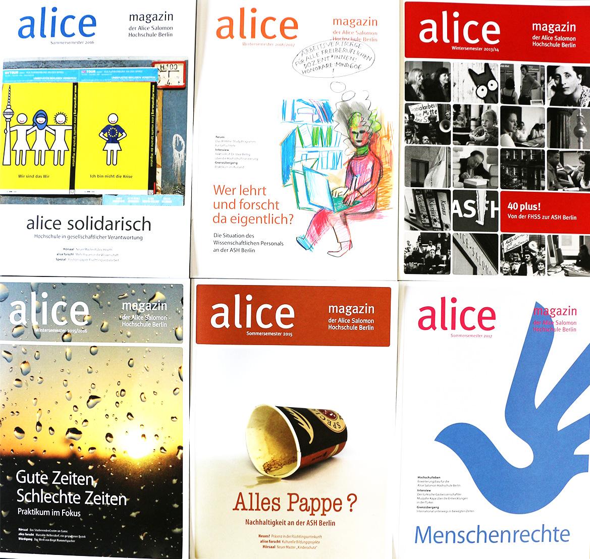 Cover von alice magazinen