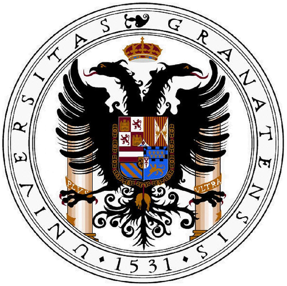 Das Logo der Escudo de la Universidad de Granada.