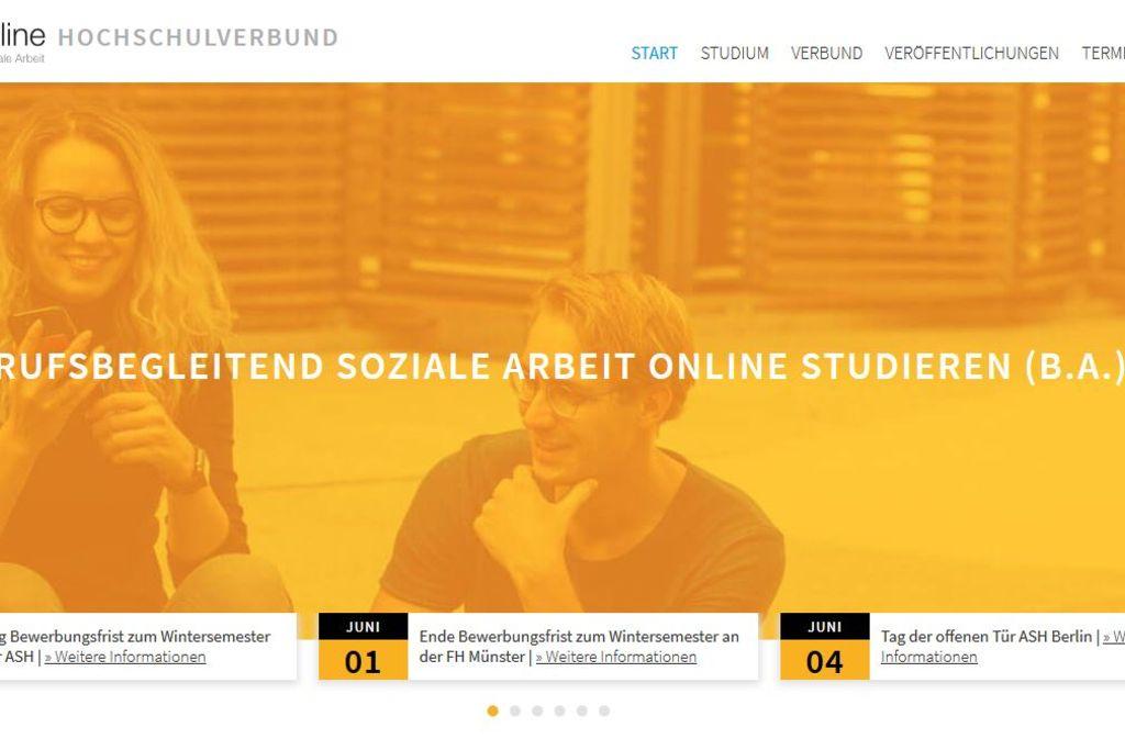 Vergrößern: Screenshot der Startseite der Website www.basa-online.de
