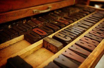 Holzlettern für Buchdruck