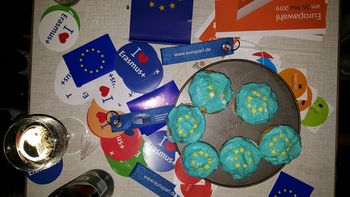 Muffins und Flyer zum Europatag am 9. Mai 2019