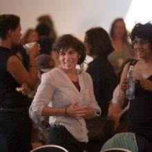 Lachende Teilnehmerinnen