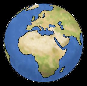 Zeichnung: Weltkugel