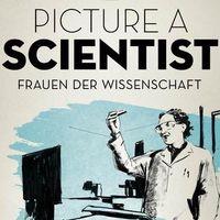 Filmplakat - Illustration einer Chemikerin im Labor