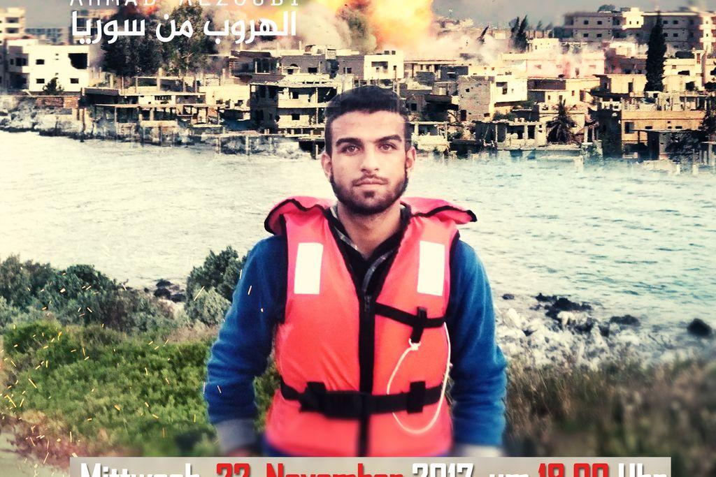 Vergrößern: PLakat Flucht aus Syrien