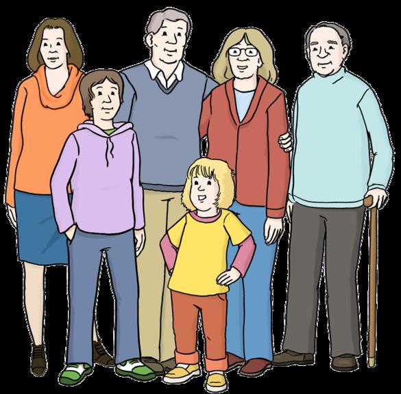 Zeichnung: Menschen verschiedenen Alters