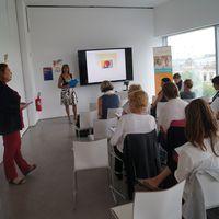 Start der Schreibtour im Humboldt-Forum Berlin, Foto: Susanne Fechner