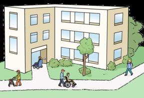 Zeichnung: Wohnheim-Anlage