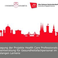Plakat mit der Berliner Skyline in rot