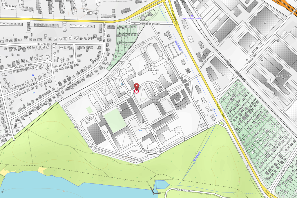 Vergrößern: OpenStreetMap-Karte der JVA Tegel und Umgebung