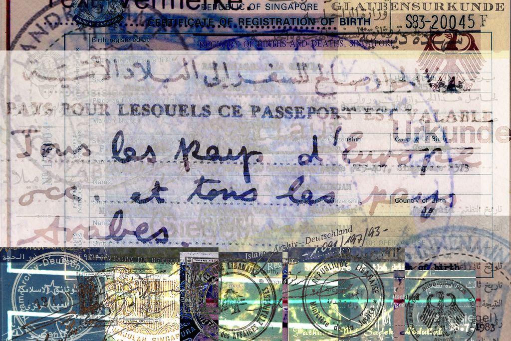 Vergrößern: Collage Passkontrolle!