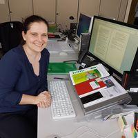 Alumna Kristin Borgstedt an ihrem Arbeitsplatz. Foto: privat