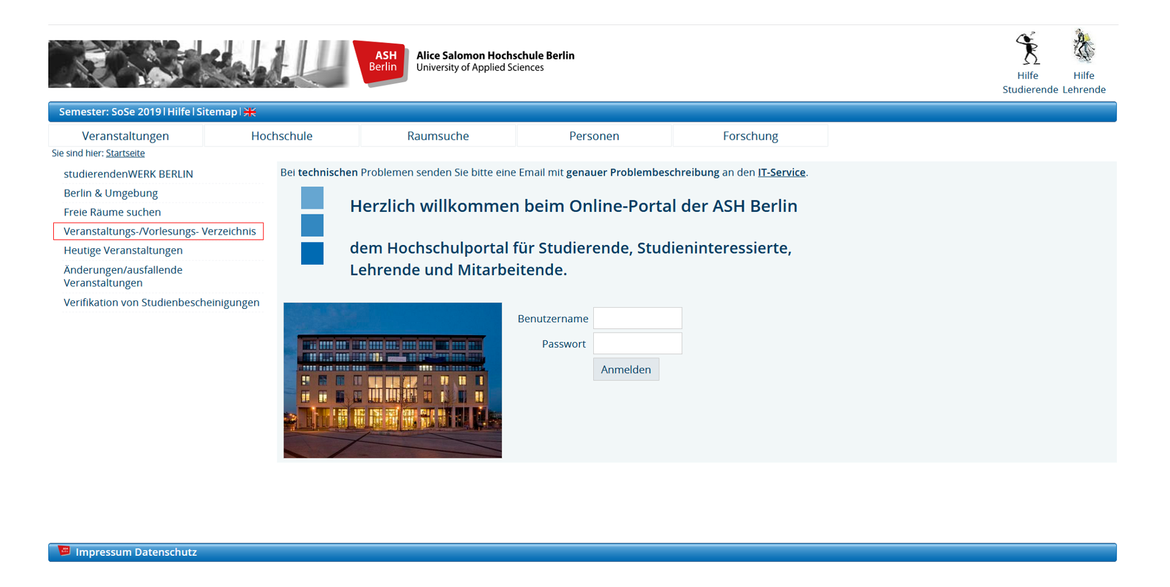 Login Elektronisches Belegsystem
